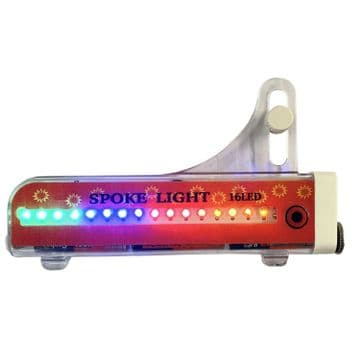 32 pattern COLOURFUL BICYCLE SPOKE LIGHT with 16 LED's bike wheel tyre